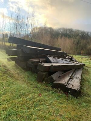 Reclaimed Timber Railway Sleepers Beams Crossing 7-9m 500x250mm