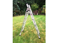 2 x Abru Aluminium 3 Way Combination Ladders 3.40M Max. *SWH