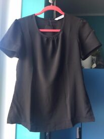 BARGAIN* HOUSE CLEARANCE * black matt Alexandra black top size 8 euro 34 simple elegant