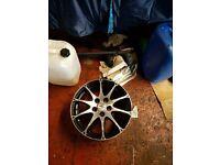 vw seat audi skoda alloy wheels 2 tyres cheap wheels look nice
