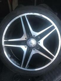 "Genuine Mercedes AMG 18"" 5 Double Spoke Alloy Wheels a b class tyres"