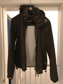 Superdry Mens Hooded Windcheater Jacket - Size Large in Khaki Green