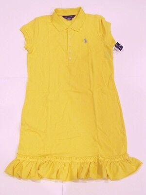 New with tag NWT Girls Ralph Lauren Yellow Short Sleeve Summer Dress L (12/14)