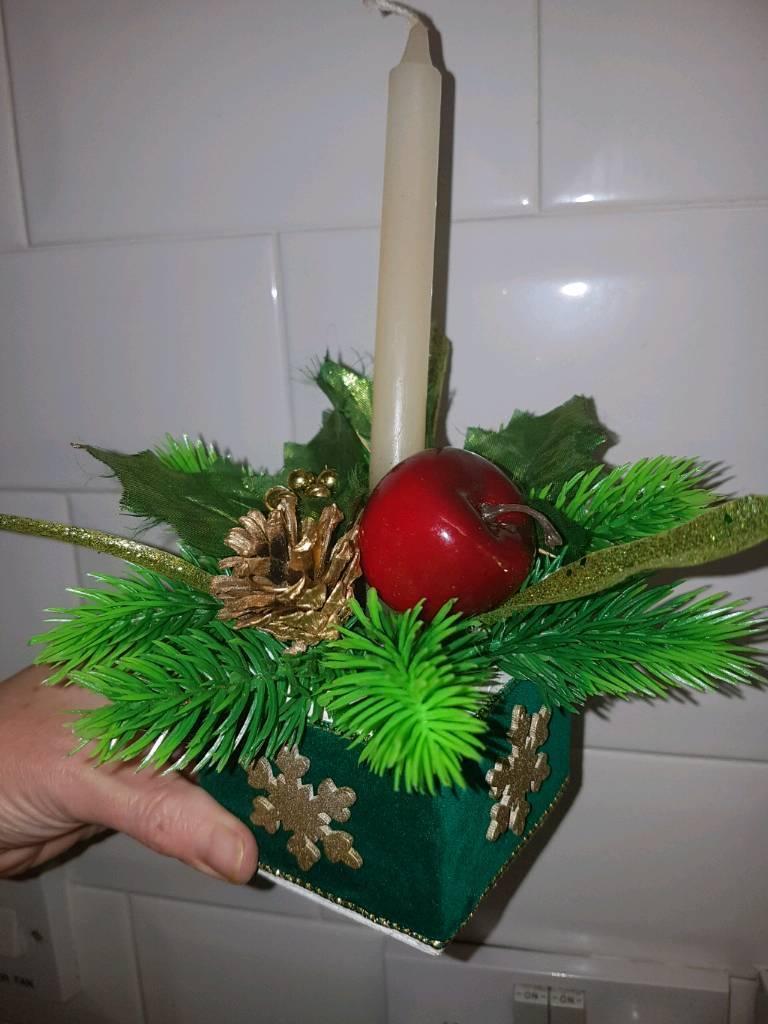 STUNNING HANDMADE CHRISTMAS CANDLE
