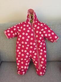 Girls 0-3 month snow suit
