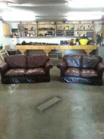 Laura Ashley real leather suite