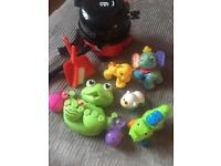 Bundle baby toys inc Henry hoover, frog bath toy