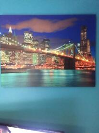 Brand new in box New York light up canvas £10