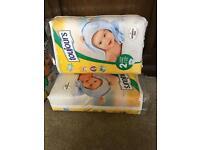 Newborn size 2 nappies
