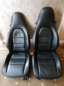 Porsche seats 986 / 996 electric leather front seat in black leather