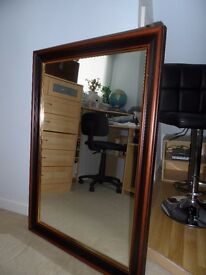 Mahogany Mirror for Sale. 100cm x 70 cms In good condition Ready to hang