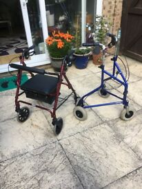 Zimmer frame and chair