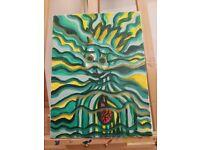 Moving Sale 45% off Shaman Art Handpainted Acrylic