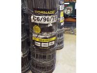 Wire fencing 100m Roll C6/90/30 B.S.S. Stock Fence (Sheep) (Medium) 900mm high.