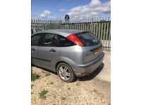 Silver Ford Focus does run but but needs some work which could be done on site