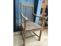 Solid Oak 1920's/30's Desk Chair/Carver