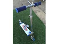 Flashing Storm Electric Blue folding kids two wheel scooter