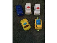 Small plastic cars