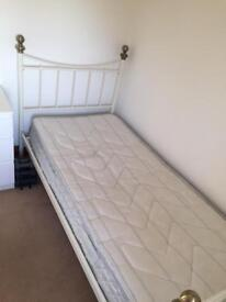 Single metal bed frame and mattress - reduced price