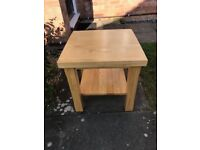 Solid Wood Lamp/Coffee table