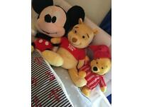 Winnie the Pooh cuddle & glow lullaby music soft plush toy teddy Mickey Mouse soft teddy IMMACULATE