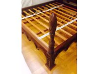 mahogany 6ft sold four poster bed