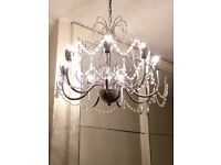 Beautiful eight-arm chandelier