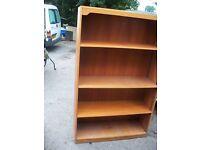 Tall bookcase / shelves, hardwood veneer.
