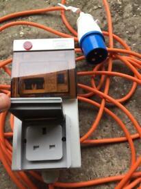 Mobile mains power unit