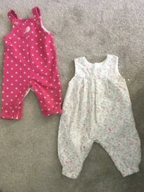 Baby girls dungarees and pinafores - various sizes