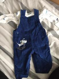 Baby boy outfit and jacket 0-3month.