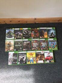 Xbox 360 Slim Black 250G + 17 Games + 3 Controlers