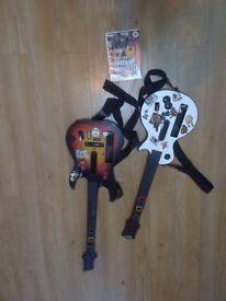 2 Guitar here for Wii+ guitar hero III Legend of the rock