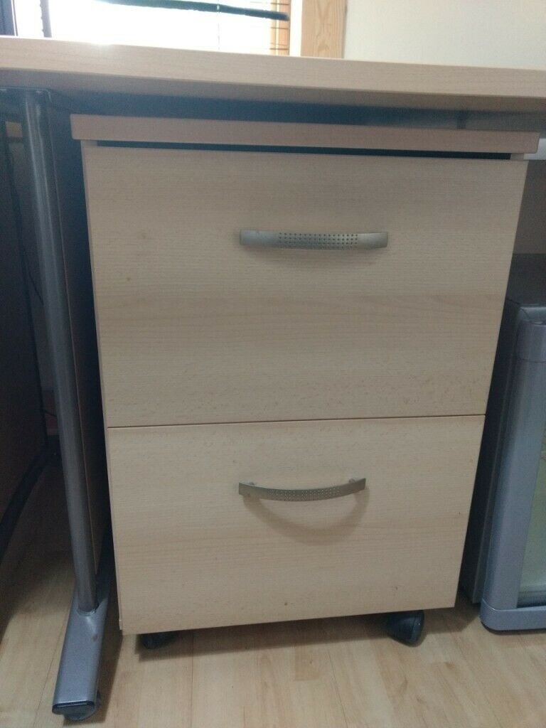 Ikea birch laminate desk drawers | in Bonnybridge, Falkirk | Gumtree