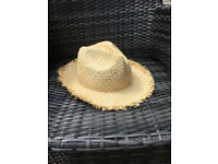 Marks and Spencer's Straw Summer Hat, Never worn, Size Small/Medium, Festival/Summer Hat