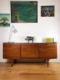 Mid-Century 1960s Teak Sideboard/Credenza by Meredew FREE LOCAL DELIVERY