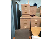3 Draw Bed Side Cabinet