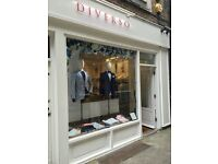 SALES ASSISTANT REQUIRED (Menswear Store)
