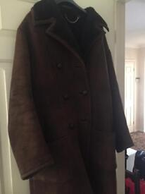 Retro vintage suede coat
