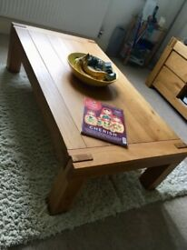 Coffee table, shelves and TV unit