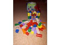 Building blocks in container