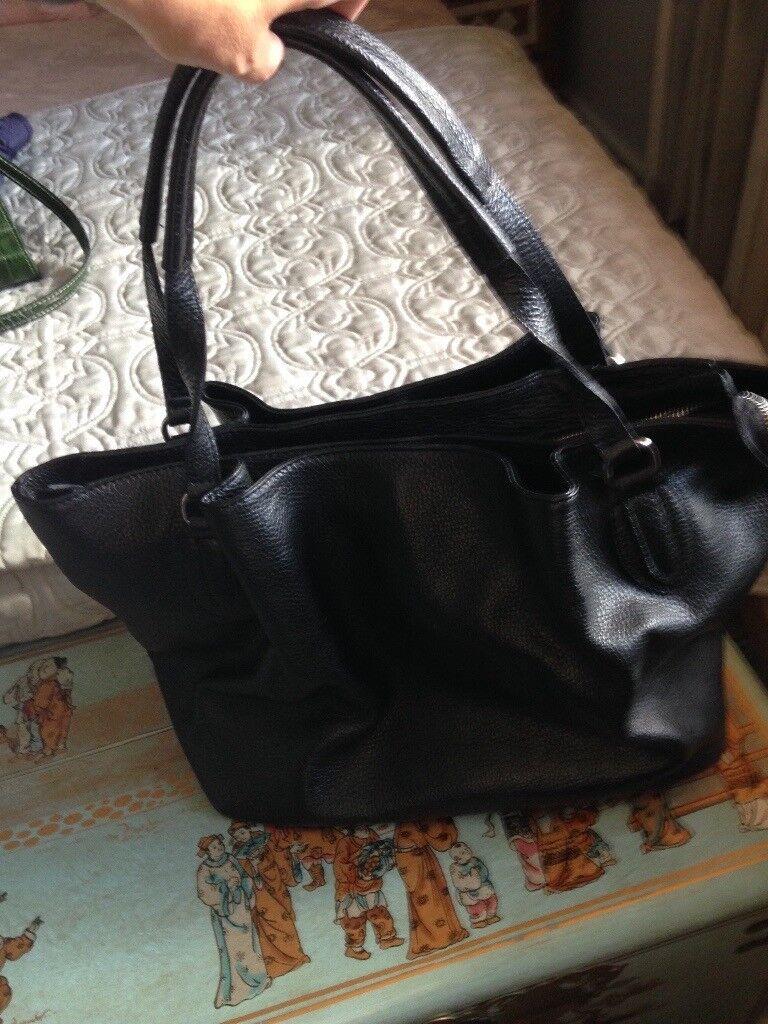 Black Leather Handbag Never Used