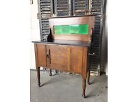Antique marble top washstand cupboard