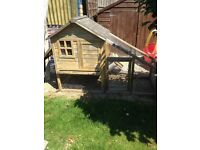 Chicken and animal hutch for chickens, Guinea pigs, rabbits or small pet. Outdoor.