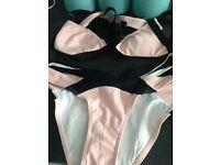 Brand new pink and black bikini fit 8/10 cup size B