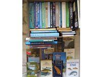 FISHING BOOKS DVD COLLECTION,JOB LOT,40 PLUS,TROUT SALMON.MANY UNREAD,HARDBACKS,PAPERBACKS