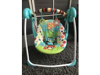 Bright starts swinging swing baby chair