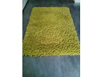 Large - deep, mixed pile lime green rug