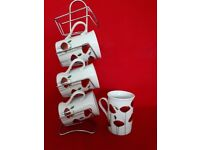 Tea Set / Mugs and stand