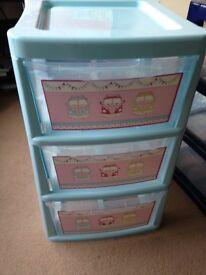 2 x Storage unit boxes